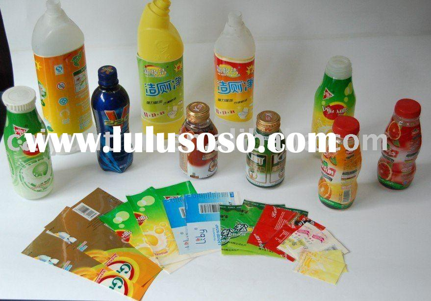 food and beverage bottle shrink film label