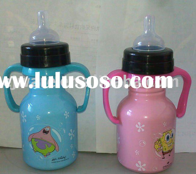 food grade stainless steel baby feeding bottle