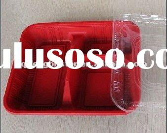food tray/fastfood container/food pack,disposable plastic microwave food tray