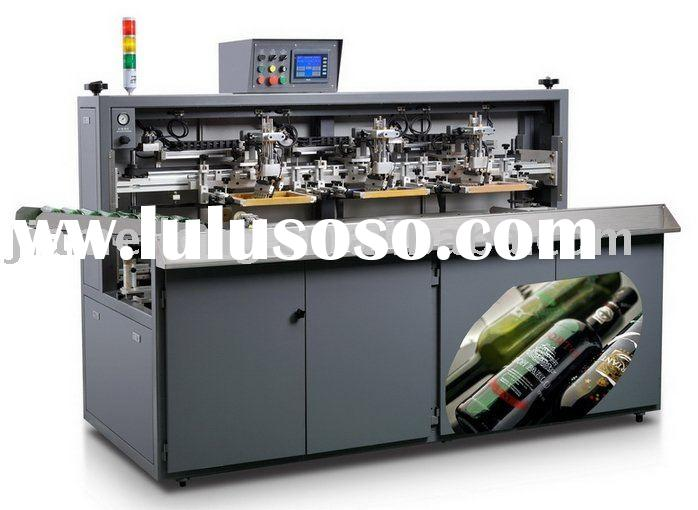 full automatic wine glass bottle screen printing machine