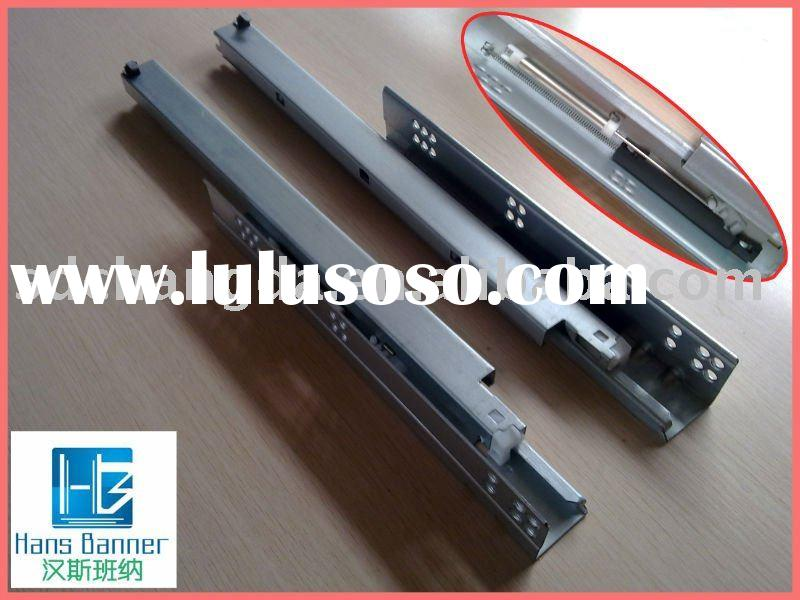 full extension soft close cabinet drawer slide hardware