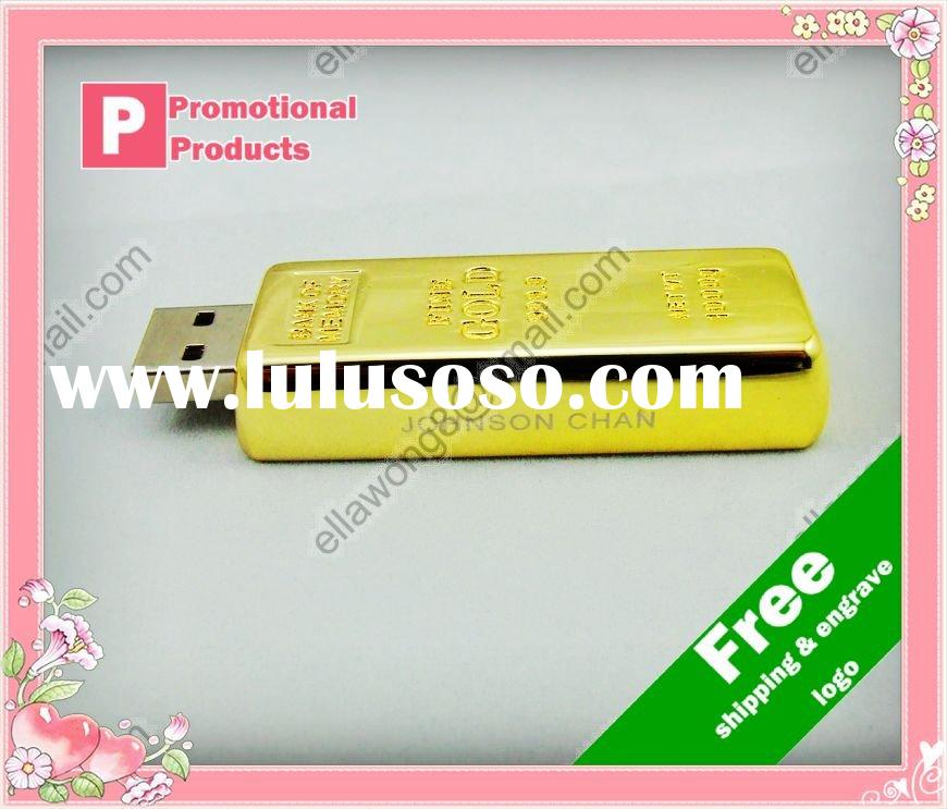 gold bar usb memory stick free engrave logo ,accept paypal