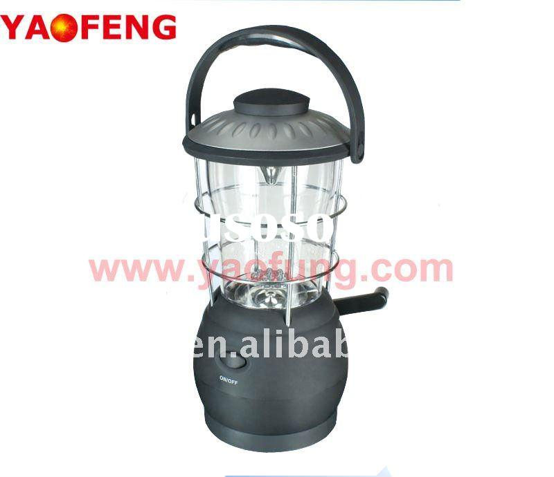 hand crank rechargeable dynamo 16 super bright led camping light lantern emergency light wing-up LED