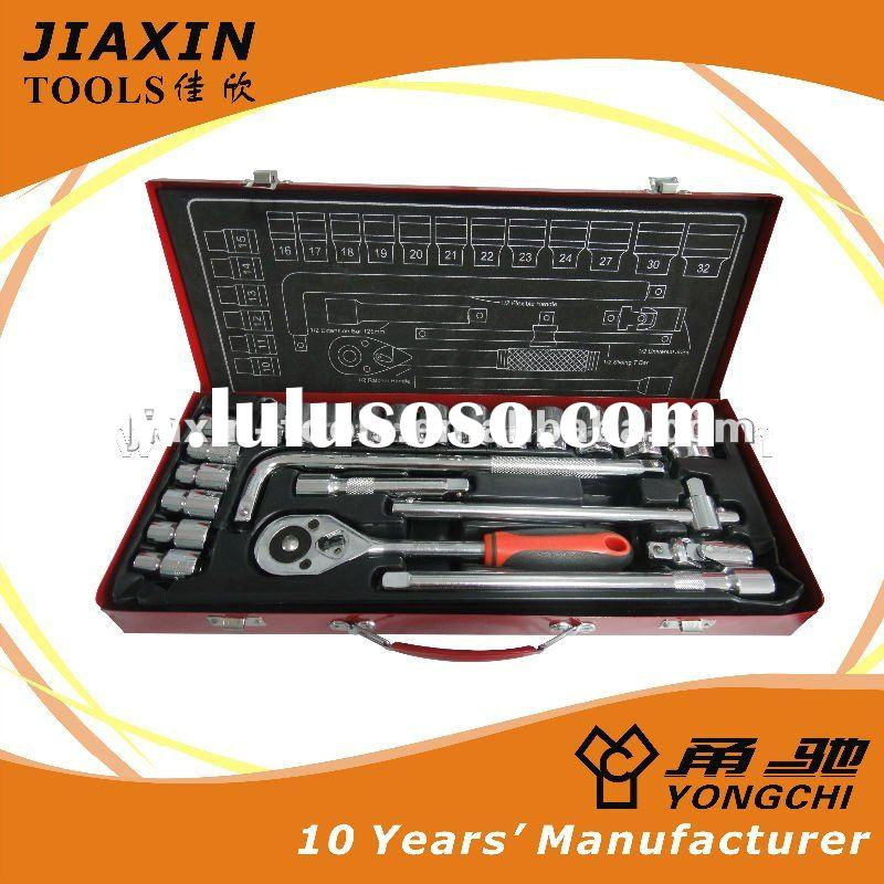hand tool set-32PCS Combination Socket Wrench Set-sliding extension bar,universal joint,25 sockets,r