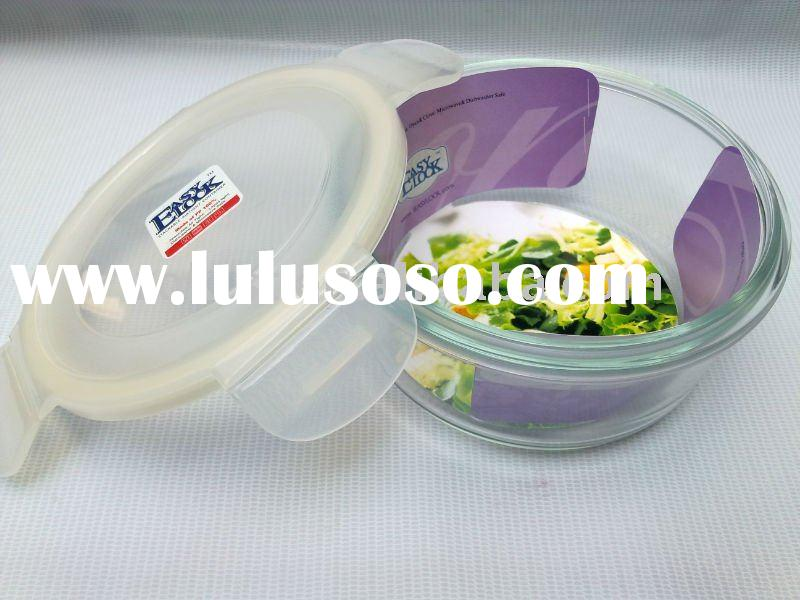 heat-resistant glass food container with locks microwave saft