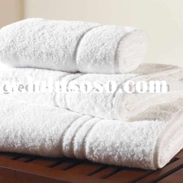 high quality cotton white bath towel for hotel