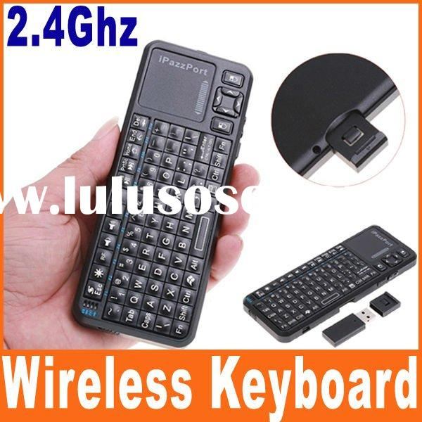 iPzzPort Mini Handheld Wireless Keyboard + Virtual laser pointer + Wireless mouse for Laptop and Tab