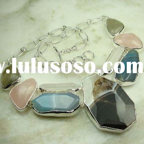 indian jewelry 925 silver fashion gemstone natural agate