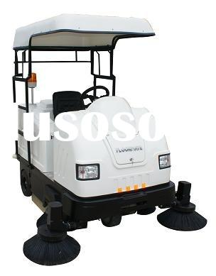 industrial sweeper with automatic cleaning system and recharge battery, used for sweeping pavement a