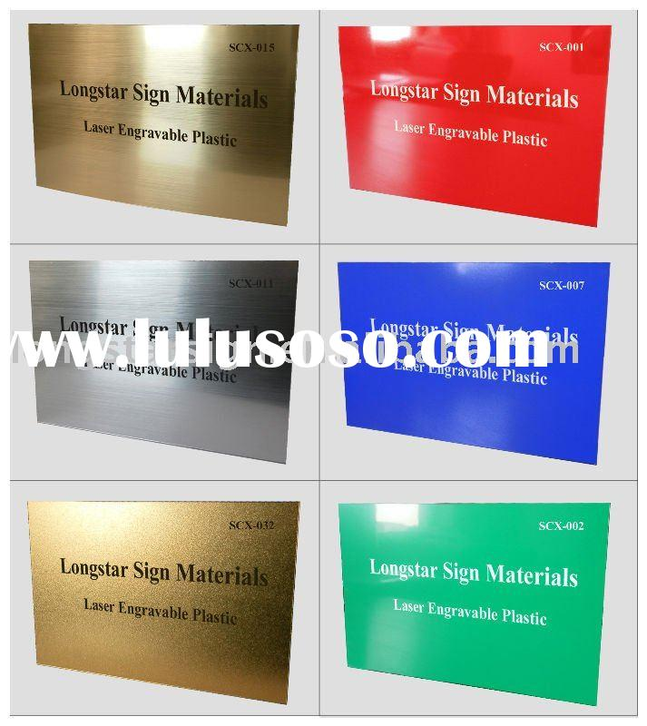 laser engraving laminate, abs engraving plastic, laserable plastic, routerable plastic, engraving la