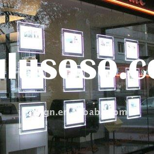 led light box acrylic display