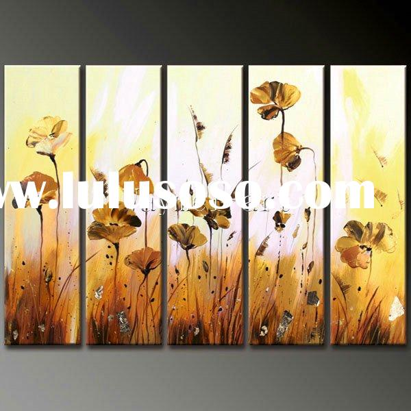 lotus flower hand made oil painting for wall decoration