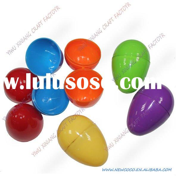 many colour decorating plastic easter eggs