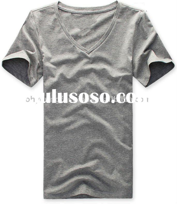 men's underwear short sleeve v neck summer t shirt in 2011