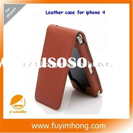 mobile phone case leather, screen protection and cover for iphone 4