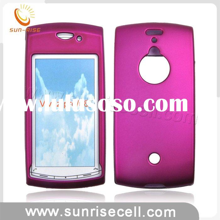 mobile phone leather skin case for Sony Ericsson vivaz pro