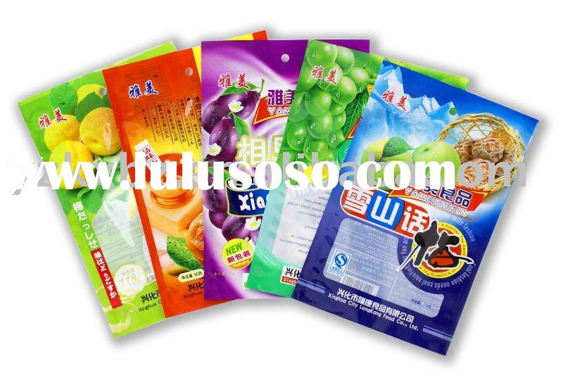 multi-color printing plastic packaging for snack food