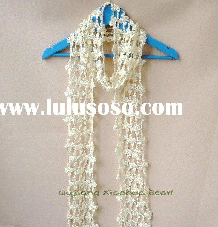 new fashion acrylic crochet scarf wholesale shawl RH-10