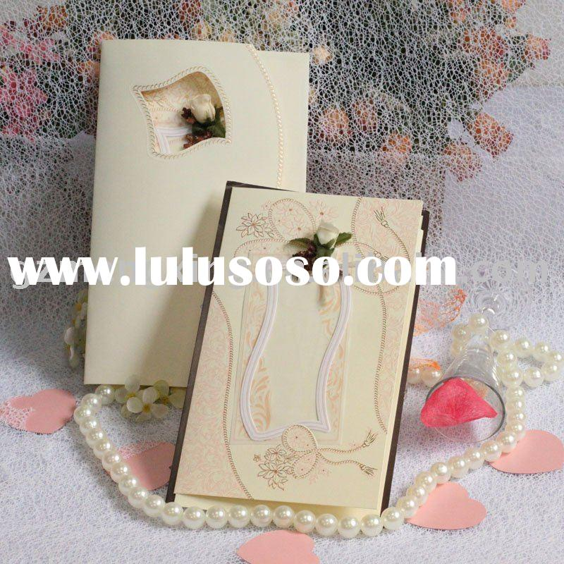 nice simple but elegant wedding decorate/wedding cards/handmade cards/greeting card/wedding favor/we