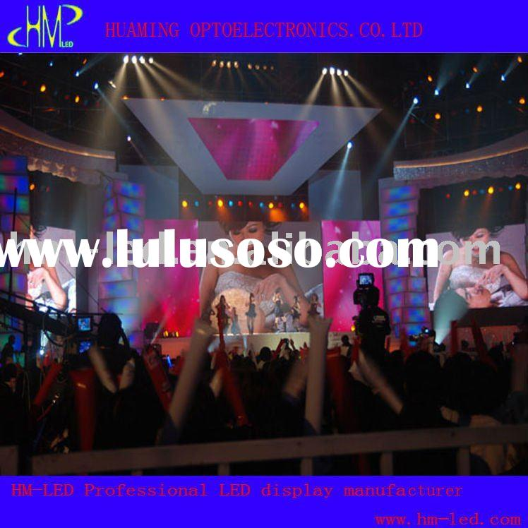 p16 Rental movable hanging stage LED display screen curtain