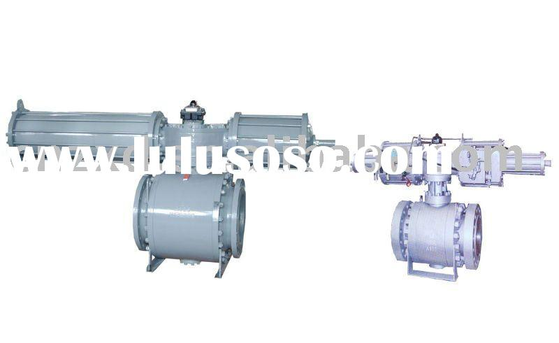 pneumatic hydraulic Trunnion mounted ball valve