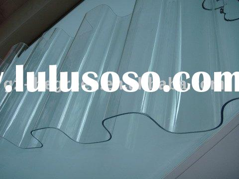 polycarbonated corrugated sheet,transparent Corrugated roofing sheet,plastic corrugated sheet, UV pr