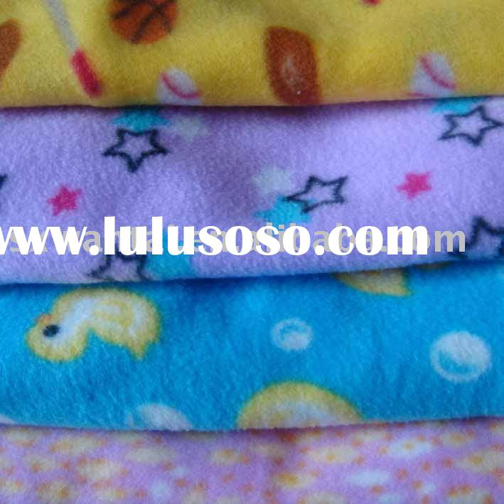 printed polar fleece fabric for garments and home textile
