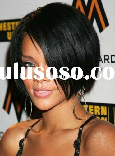 silky straight remy human hair lace wigs 12''