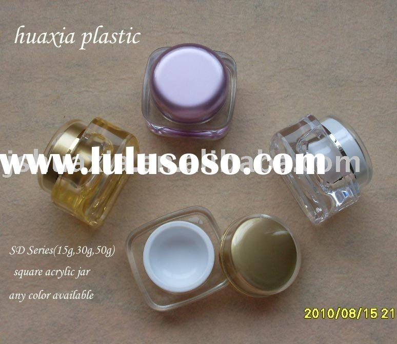 square acrylic cream jar ,cosmetic packaging