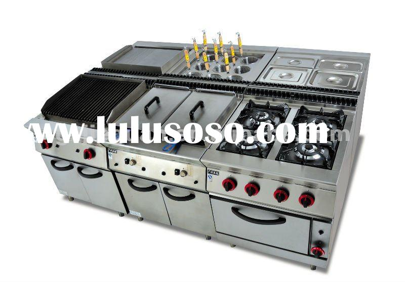 stainless Gas Combination Kitchen equipment/hotel equipment
