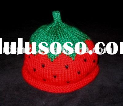 strawberry beanie/baby hat/knitted hat/crochet hat