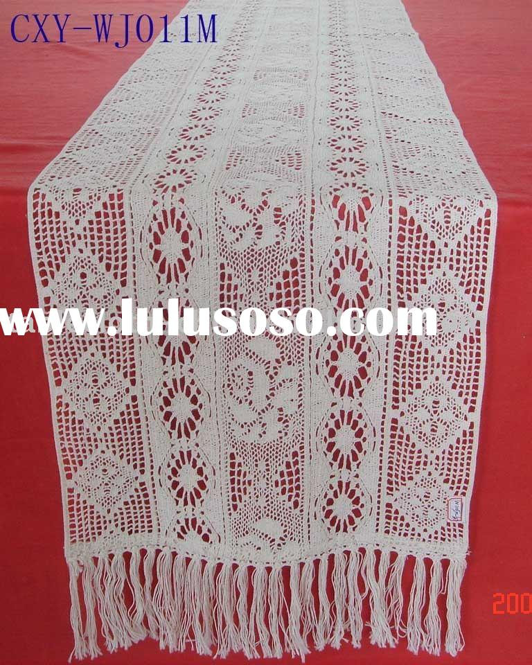 FREE CROCHET TABLE RUNNER OR TABLECLOTH PATTERN - Crochet and ...