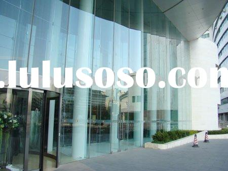 tempered glass curtain wall system for commercial center