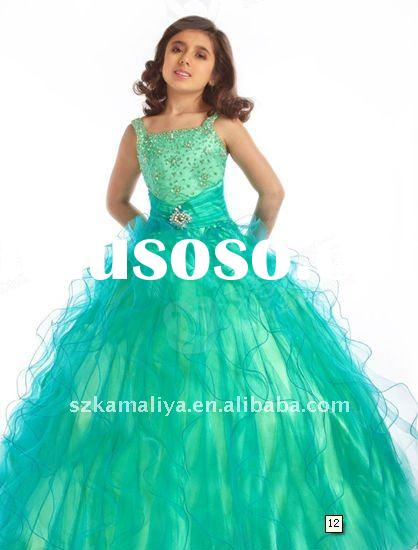 top sale gorgeous pleated ball gown flower girls' dresses
