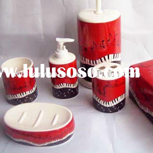 uniquely ceramic Bathroom set and accessories for decor and gift