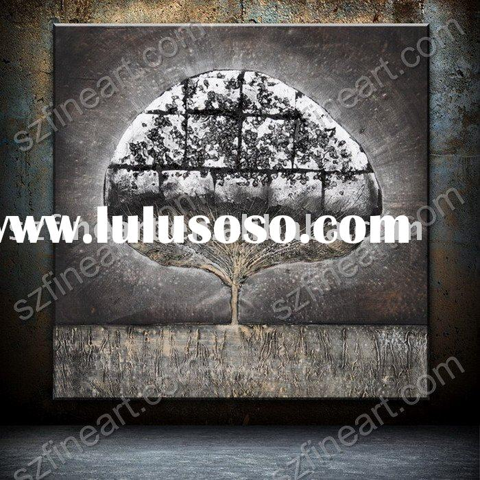 wall decoration of abstract tree oil painting