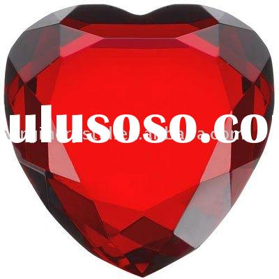 wedding gifts crystal heart shape diamond paperweight