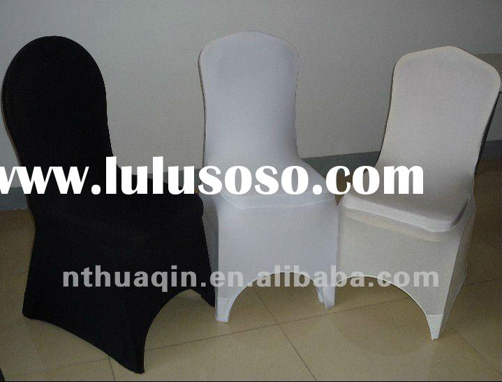 white black ivory spandex chair covers for weddings