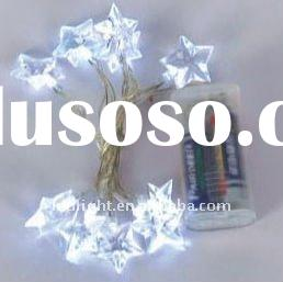 white lowpower/low price light Led fairy tree string light battery powered/operated LED battery ligh