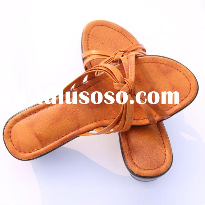 women's leather slippers,leather ladies slipper soles