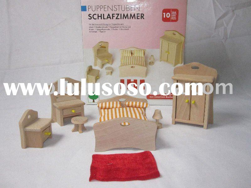 wooden dollhouse furniture toys for children have stock