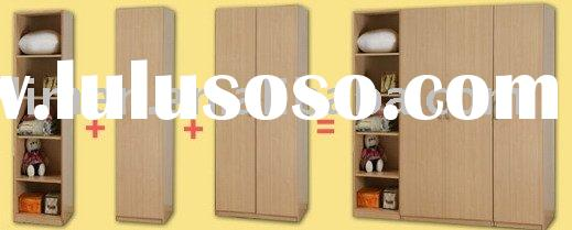 wooden wardrobe for bedroom furniture set,home furniture,melamine board furniture