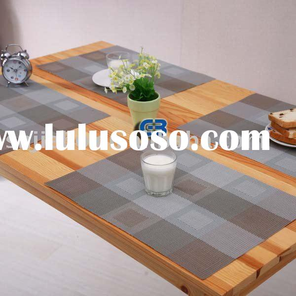woven vinyl placemat, woven vinyl table runners, vinyl table cloth