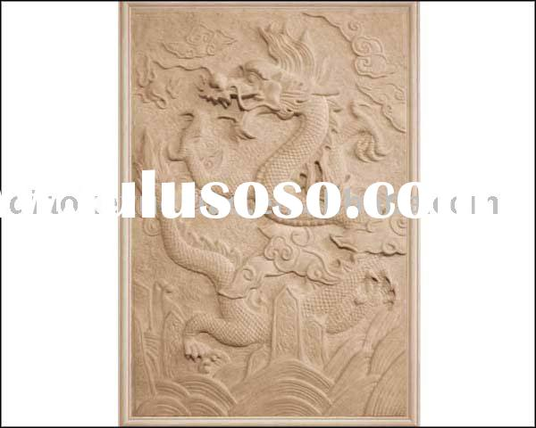 yellow dragon relief carving