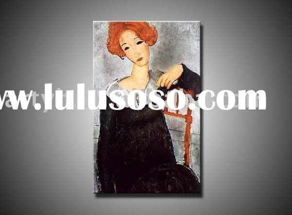 100% Handmade, Reproduction Oil Painting, Amadeo Modigliani's Painting, Famous Artist Oil Pa