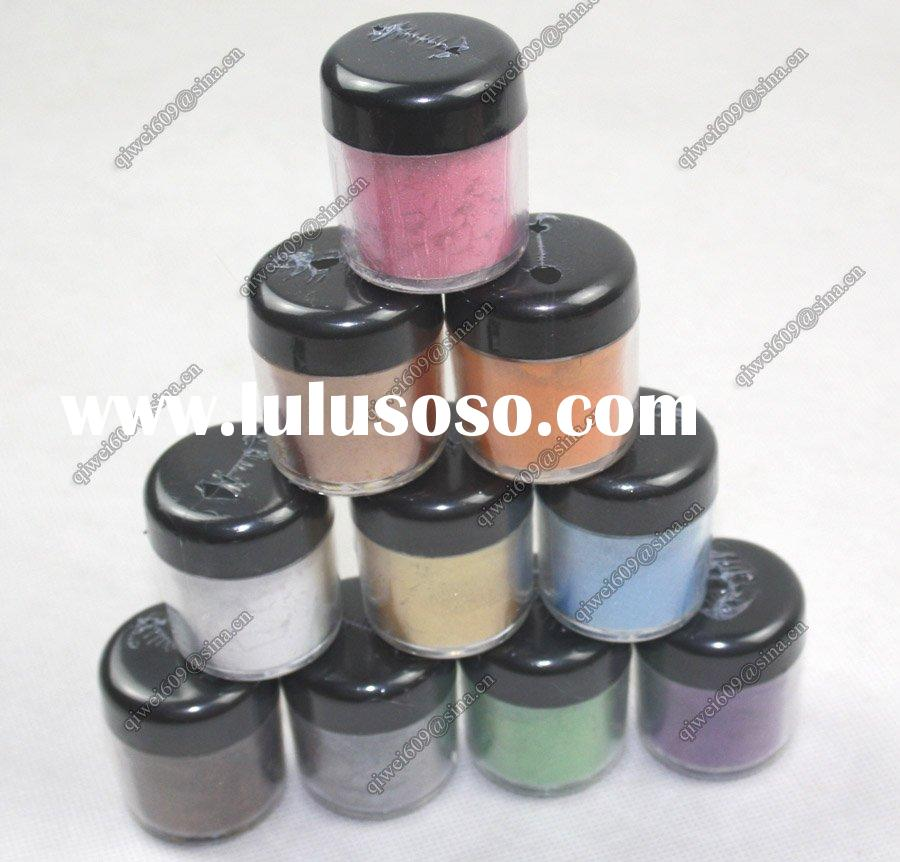 10 Color Glitter Sparkle Dust Powder Nail Art Make Up