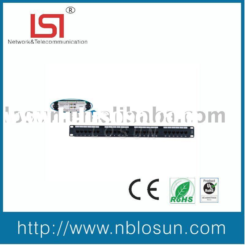 "19"" Cat6 24P UTP Patch Panel ,network device,network communication"