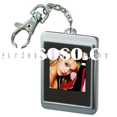 "1.5"" quadrate shape digital photo keychain"