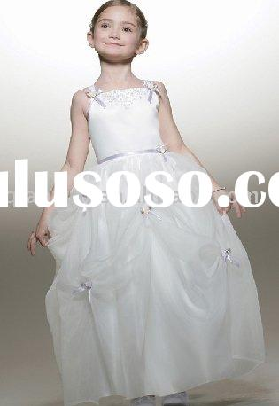 2009 most famous style flower girl dress for Chrismas Day
