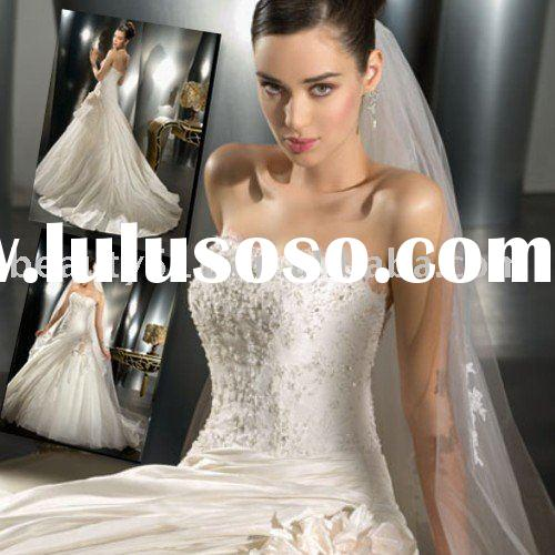 2010 new style hot sell wholesale perfect wedding dress wedding gown